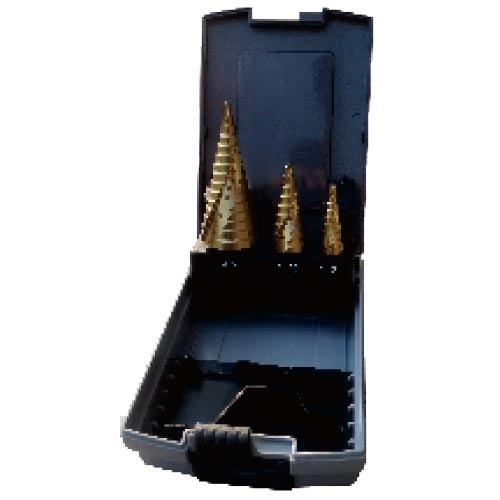 WD17130-3PCS HSS spiral flut Step drill bits set