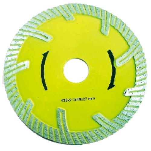 Hot Pressed Diamond Saw Blade-Protected turbo blade