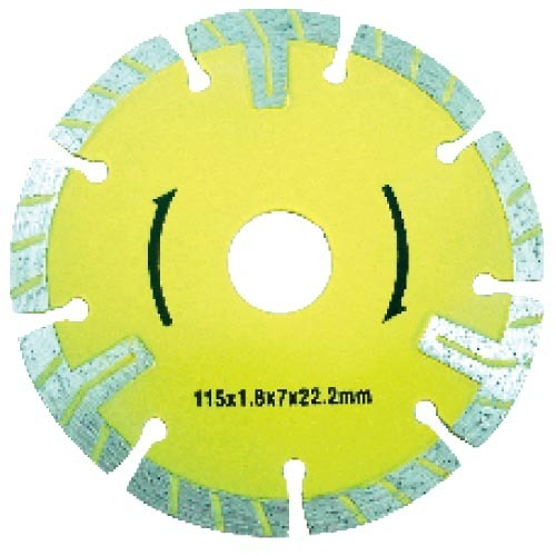 Segmented diamond saw blade with T type segment