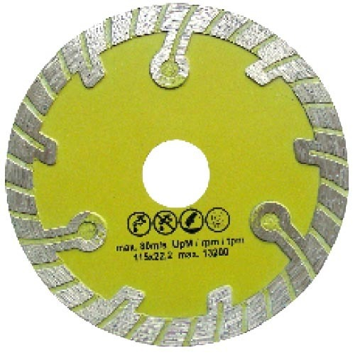 Turbo diamond saw blade with circular segment