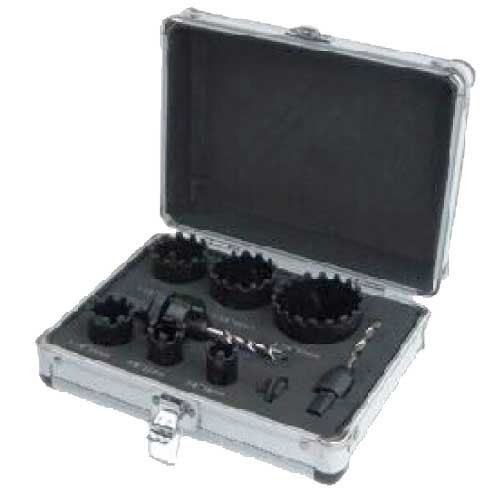 WDH0090-9PCS Carbide grit hole saw set