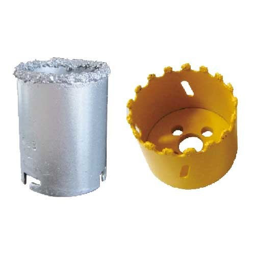 Tungsten carbide grit hole saw