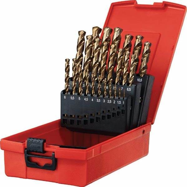 China manufacture 25pcs HSS M35 fully ground cobalt drill bits set