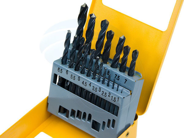19pcs Roll forged twist drill bits set