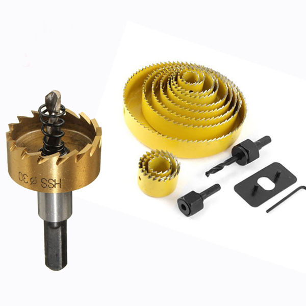 Core drill bit holesaw hss bimetal diamond hole saw cutter set for stainless steel