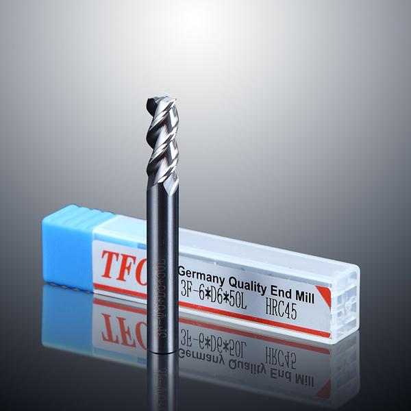 2 cutting edge aluminum end mill