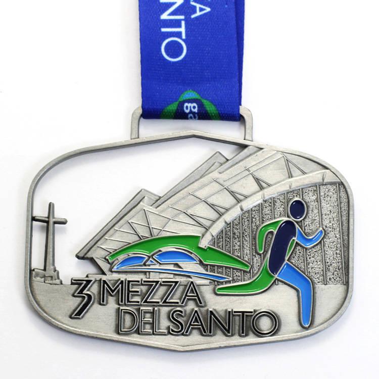 Factory price custom spinning marathon medal