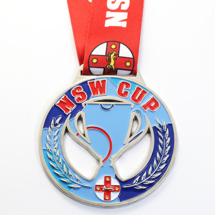 Custom-Metal-Sport-3D-Antique-Swimming-Silver (1)