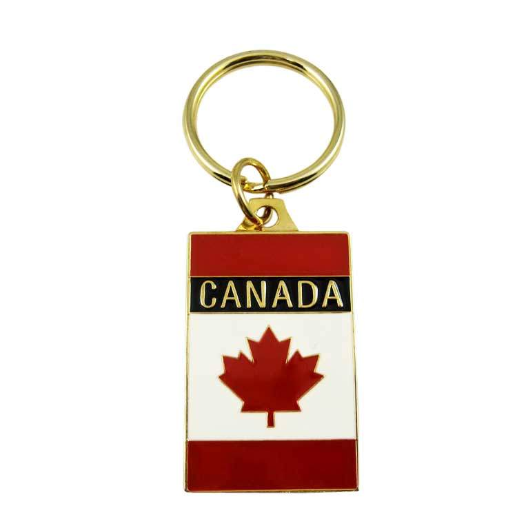 Custom Canada Country Flag Keychain from manufacturer in China