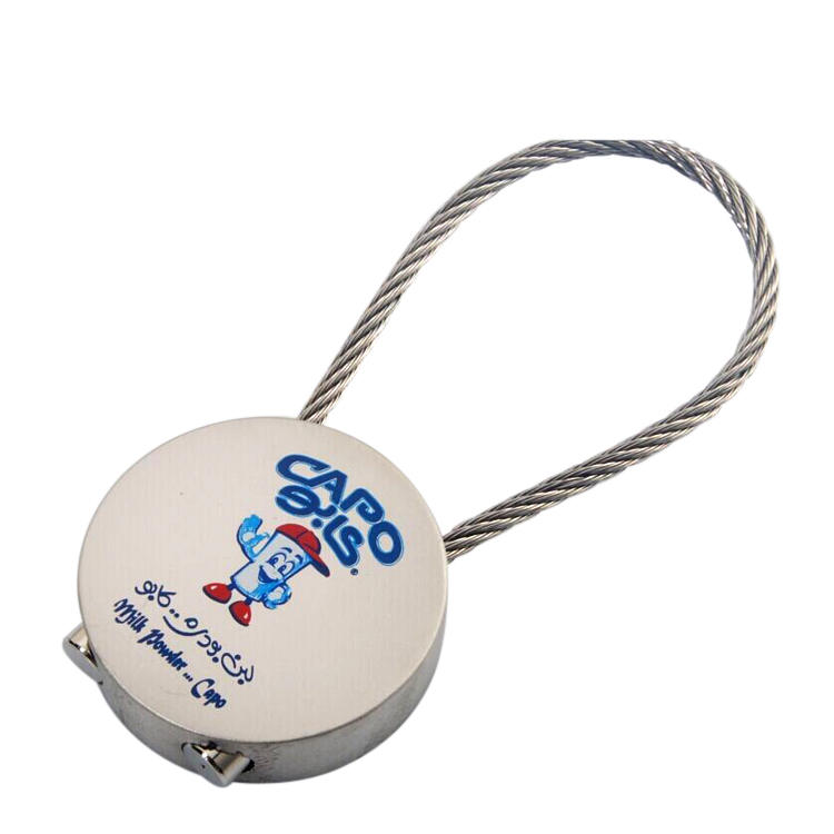 Screw Locking Stainless Steel Wire Holder Colored Wire KeyChain from manufacturer in China