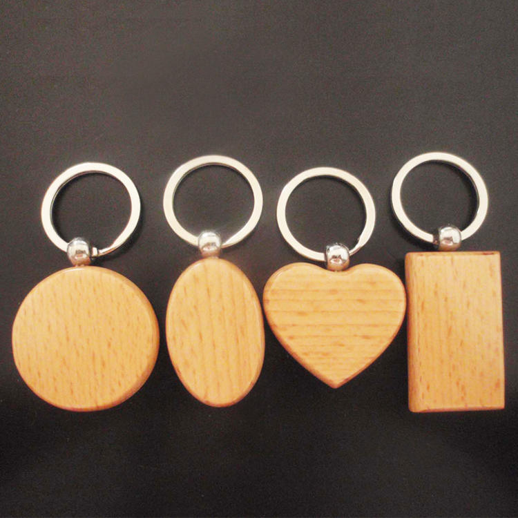 Custom-Blank-Wood-Carving-Name-Keychain-Wooden