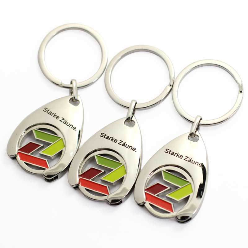 Metal Coin Holder, Metal Trolley Token Holder Keychain
