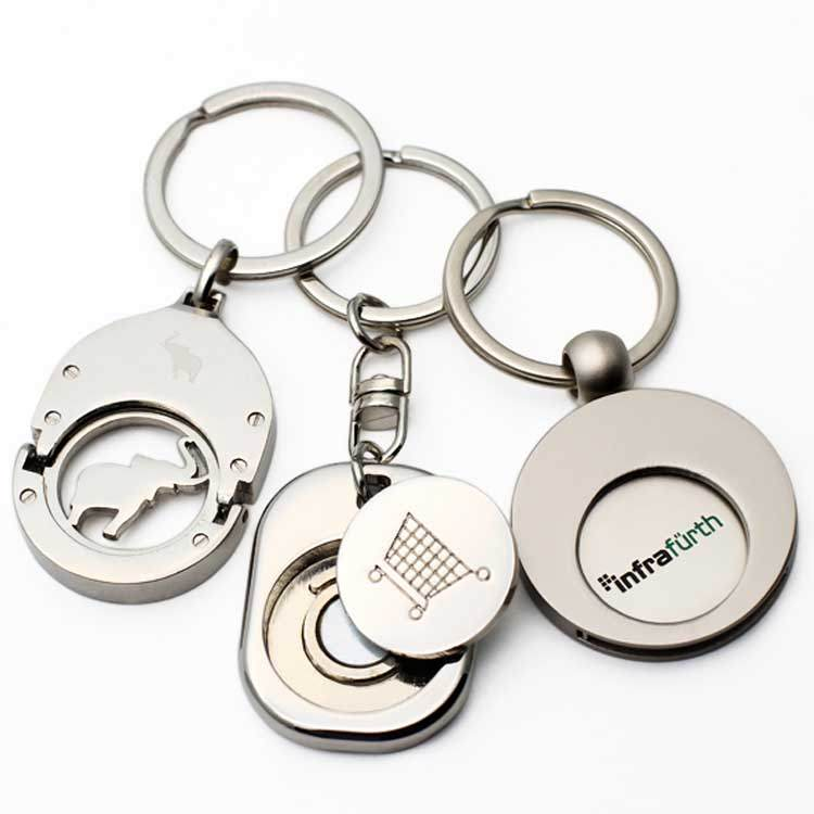 Wholesale Custom Coin Holder Keychain