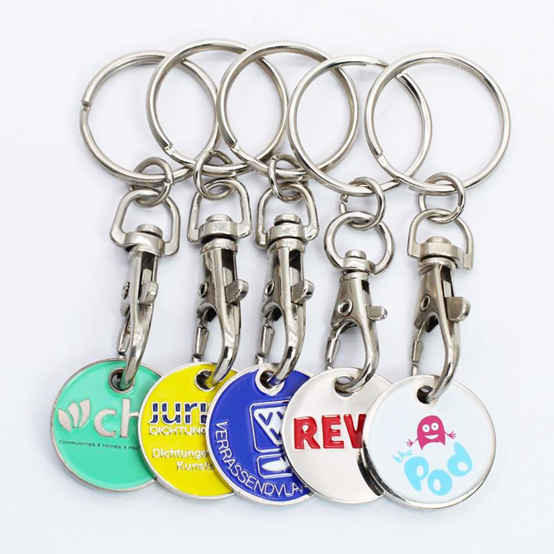 Supermarket Locker Coin Trolley Token Keychain