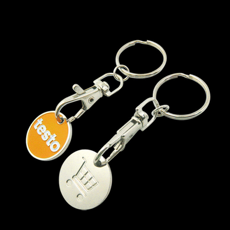Wholesale Custom Wishbone Trolley Cart Coin Holder Keyring