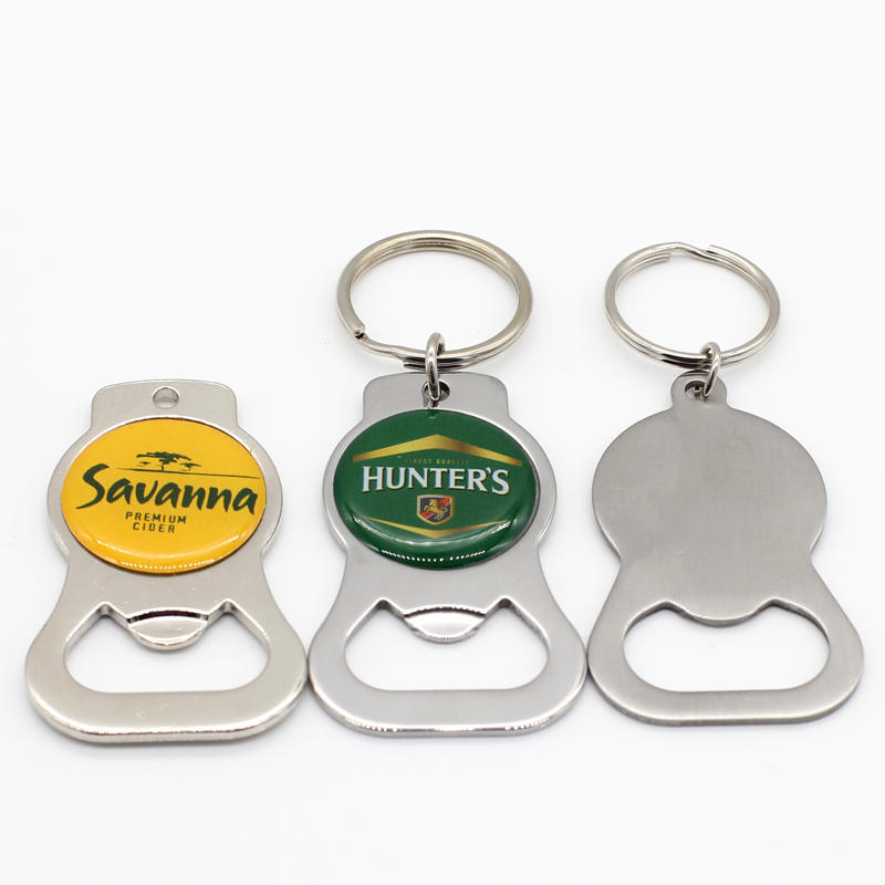 Wholesale Cheap Custom Metal Souvenir Key Ring Bottle Opener