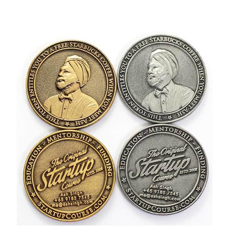 Custom Metal Antique Brass German Challenge Sports Coin