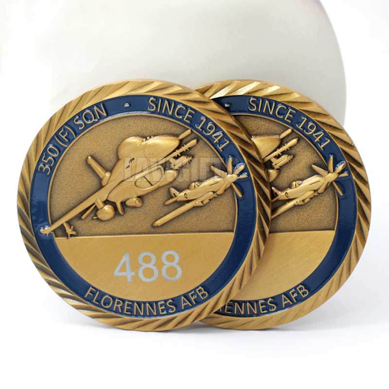 Chinese Custom 3D Embossed Old Big Size Anniversary Coins