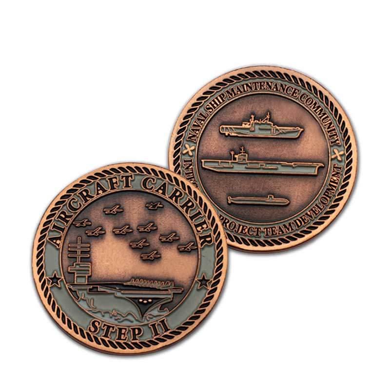 Wholesale Custom Design Souvenir Enamel Eagle Bronze Coin For Sports Event