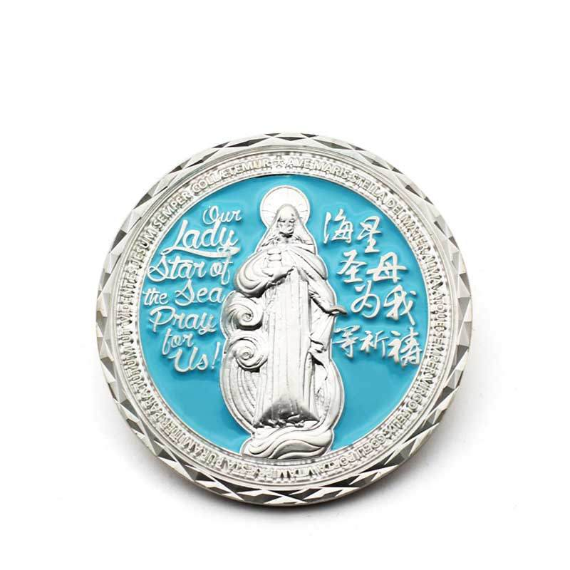 Cheap Professional Gold Plated Silver Double Dragon Religious Commemorative Coin