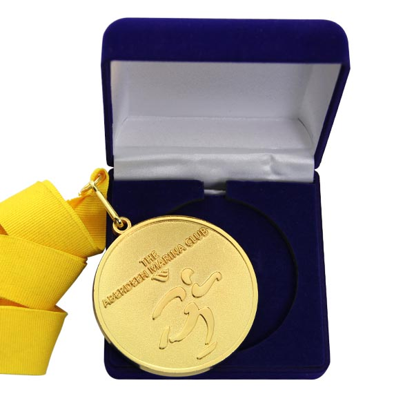 Customized medal packed in velvet packaging boxes from medal manufacturer