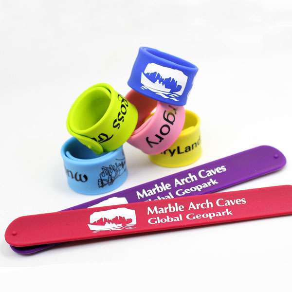 China made Slap Bracelet Silicone Slap Wristband, Silicone Slap Band,