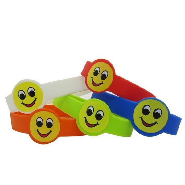 Wholesale Custom Printing Logo Children Silicone Wristband Bracelet