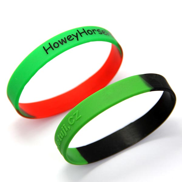 Italian Gym Braided Country Flags Baseball Rubber Silicone Bracelet