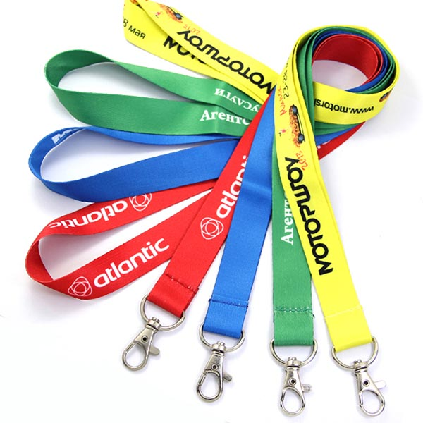 whosale Custom printed polyester sublimation neck lanyard with logo