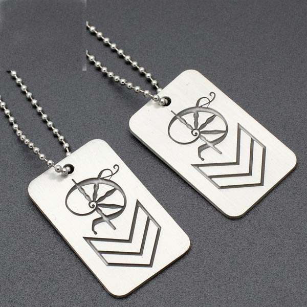 Wholesale Custom Logo Metal Stainless Steel Dog Tag from supplier
