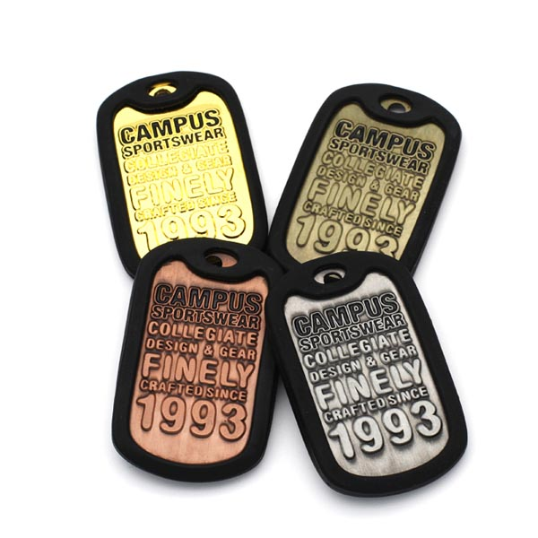 Wholesale Custom Plastic PVC Rubber Silicone Dog Tag without chain