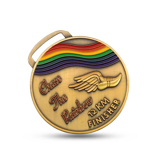 Hot Sale Custom Zinc Alloy Die Casting Rainbow Medal