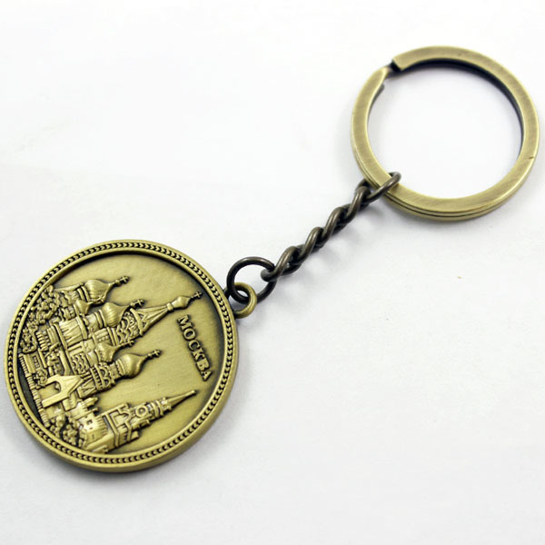cheap custom embossed antique keychain from manufacturer
