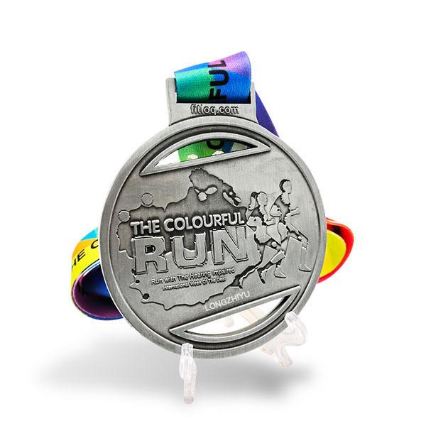 Manufacturer Custom Zinc Alloy 3d Sports Metal Medal Marathon Running Race Award Medals