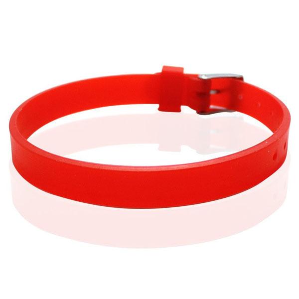 12 Colors 8mm Wide Adjustable Blank Silicone Bracelet