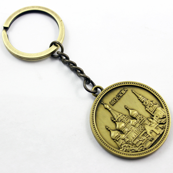 China Manufacturer cheap custom embossed antique keychain  (2)