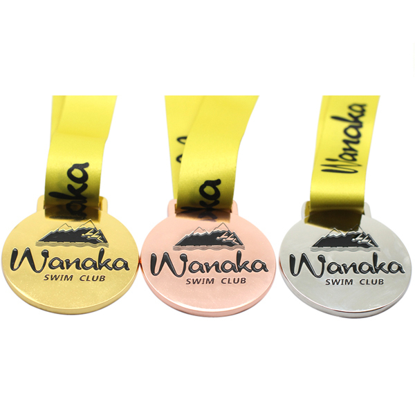 Gold Metal Custom 55mm Gold Foil Medal Zamak Medal