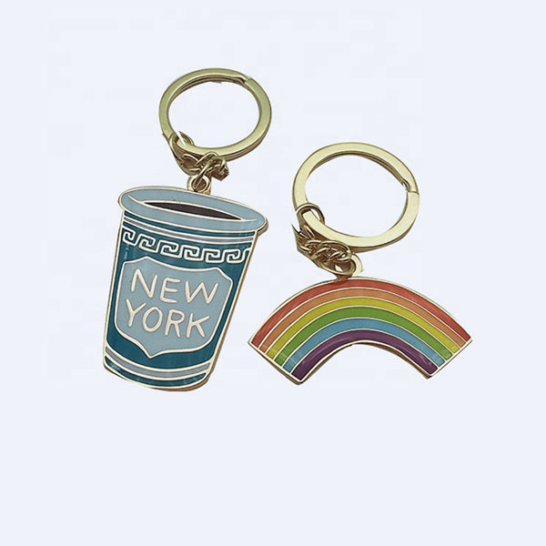 Factory direct hard enamel metal custom keyrings