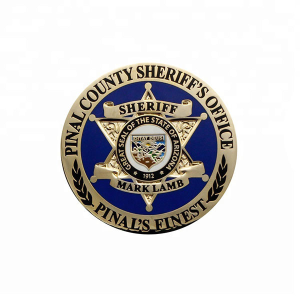 sheriff coin, freedom challenge coin no MOQ 3D military coin  (2)