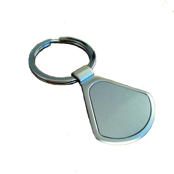 custom square metal cheap keychain
