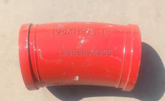铸钢DN125*R275*15泵车弯管的正面