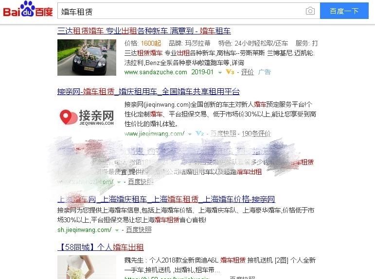 婚车租赁网站seo关键词排名案例