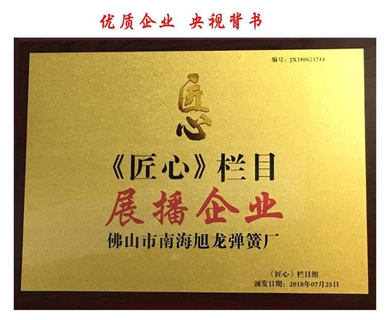 央視匠心欄目推薦的拉簧生產廠家-佛山旭龍彈簧廠