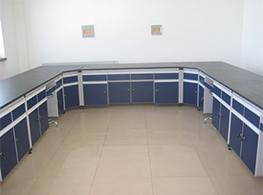 实验室边台带转角柜