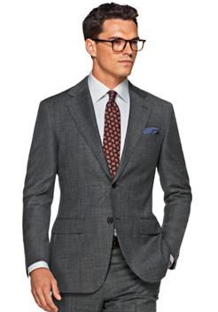 经典灰色商务西装