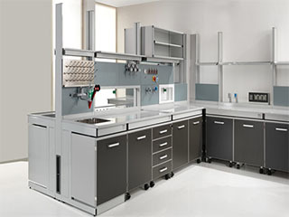 全钢柜体陶瓷板实验台柜多少钱