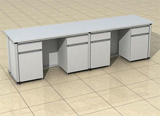 铝木柜体陶瓷板实验台柜多少钱