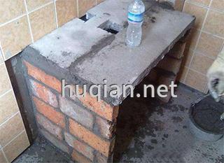 实验台的台面有砌筑板