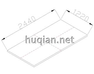 纤丝板第一种尺寸规格为2440*1220