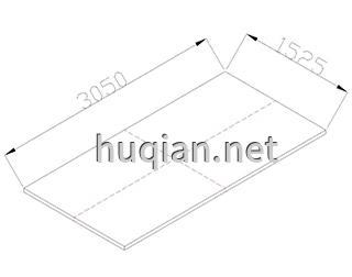理化板第二种尺寸规格为3050*2525